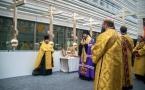 Видеорепортаж об установке центрального купола и креста над новым православным собором в Париже