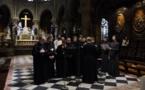 Хор семинарии принял участие в православной вечерне в соборе Парижской Богоматери