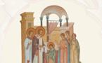 Книгу-альбом о фресках и иконах домового храма семинарии можно заказать на сайте Amazon.fr