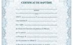Издательство семинарии выпустило свидетельства о крещении на французском языке