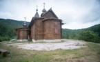 Литургия в деревянном храме Сильванеса
