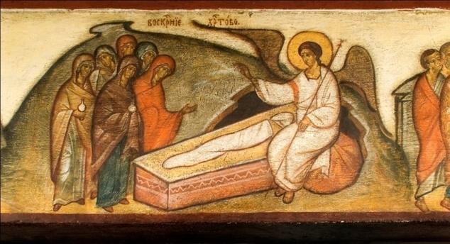 Жены-мироносицы перед пустым Гробом Господа, проповедь в третье воскресенье после Пасхи