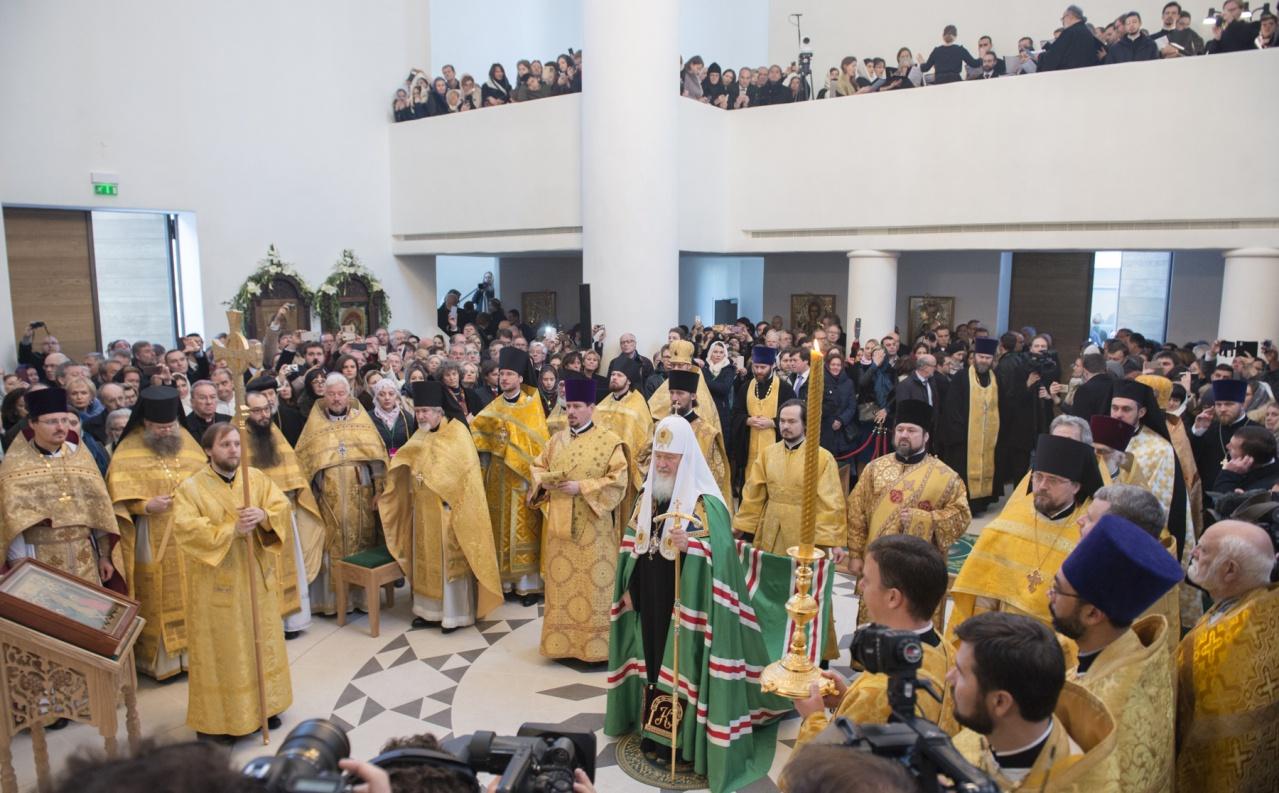 Семинаристы участвовали в богослужениях со Святейшим Патриархом в Париже