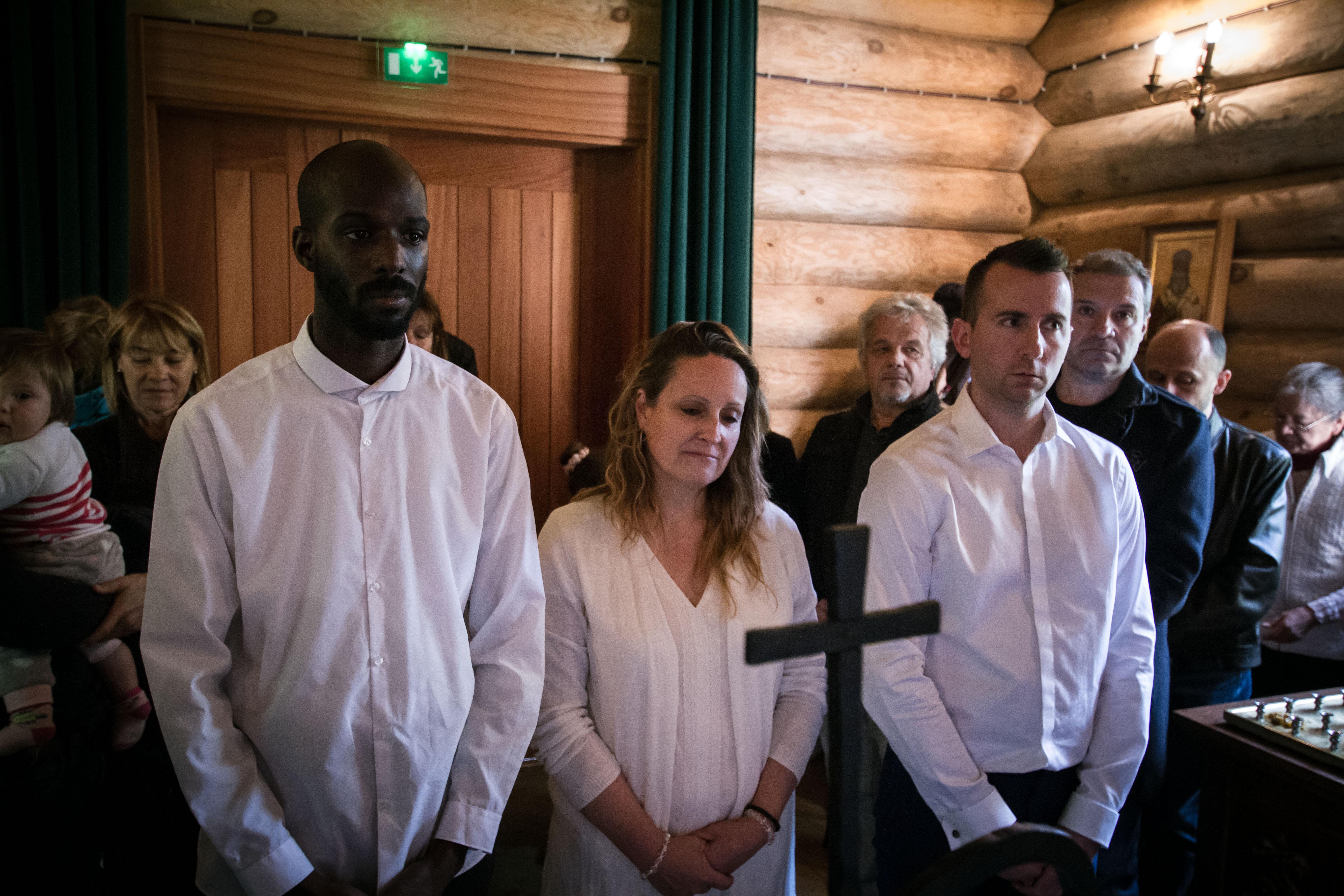 Крещение Микаэля, Сандрин и Флориана