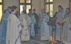 Первая архиерейская литургия в семинарии
